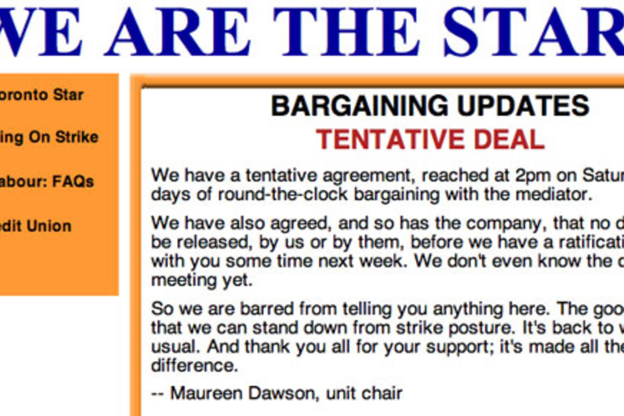 Toronto Star Strike