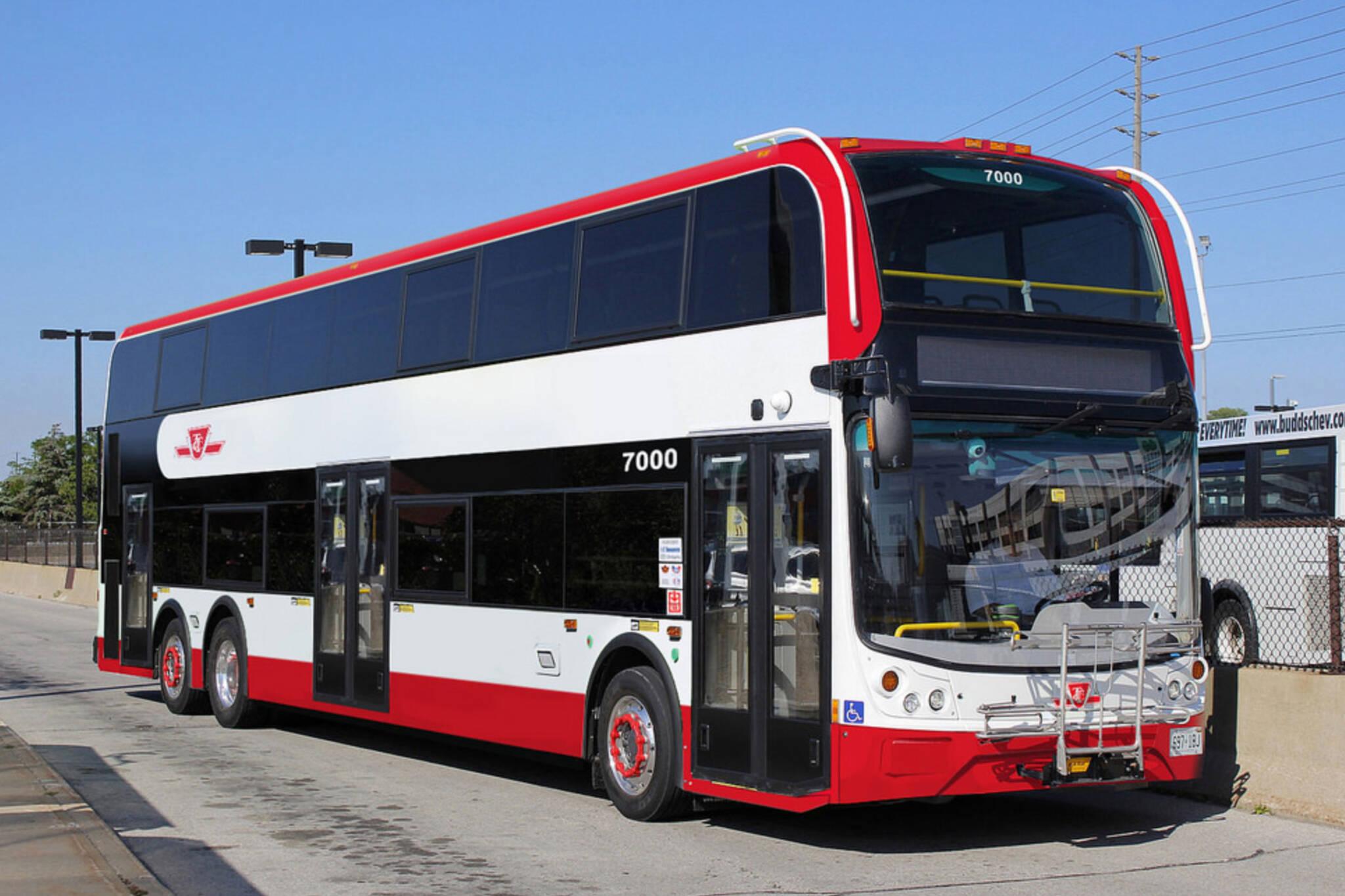 ttc double decker bus