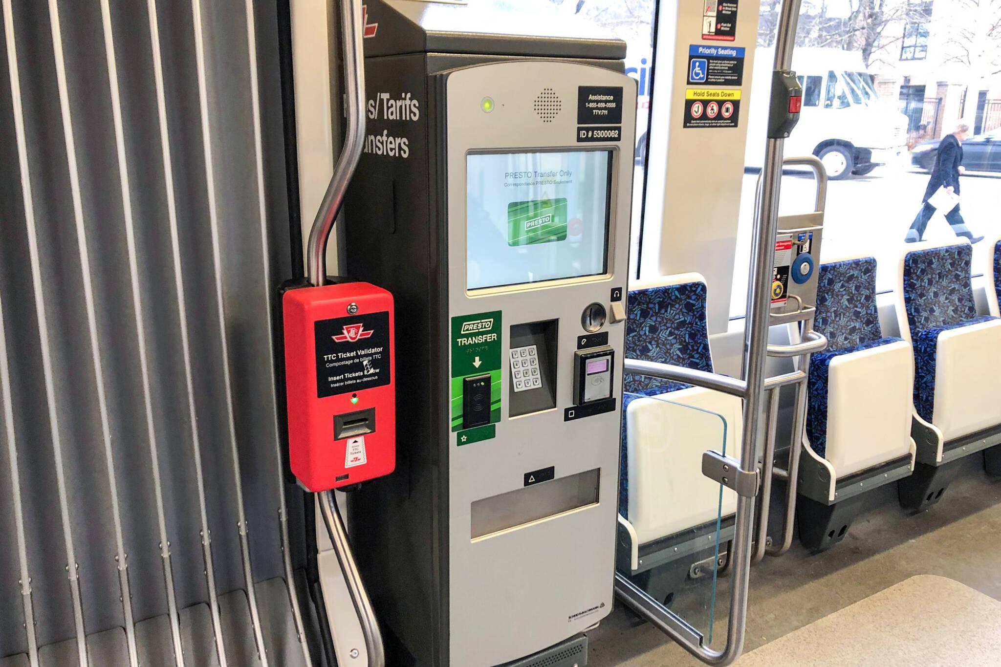 TTC streetcar debit