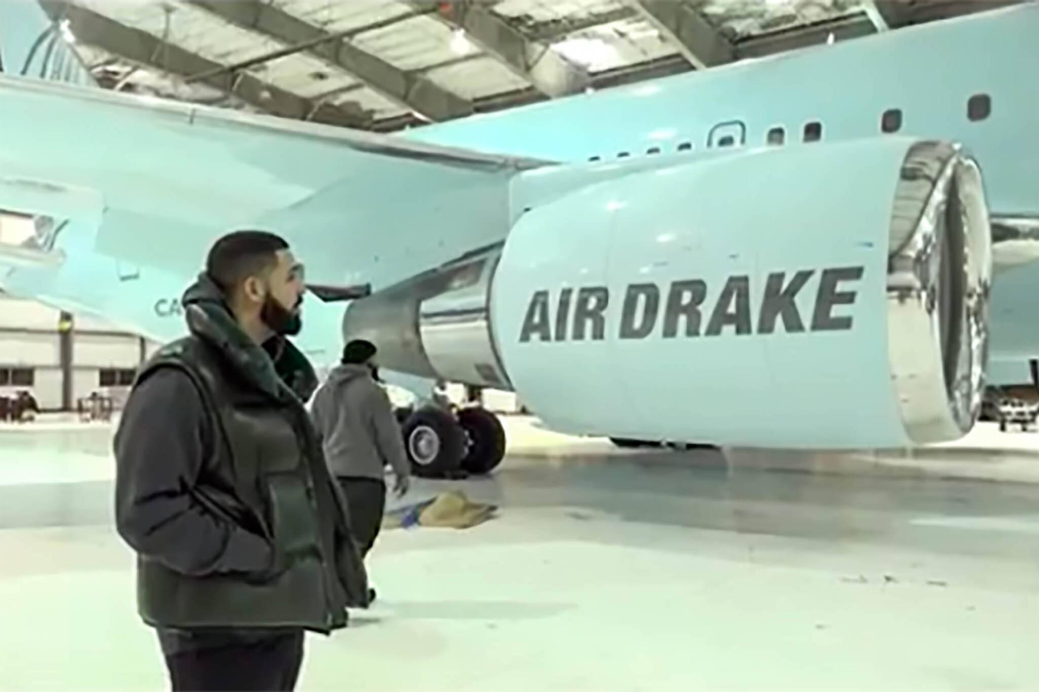 drake private plane