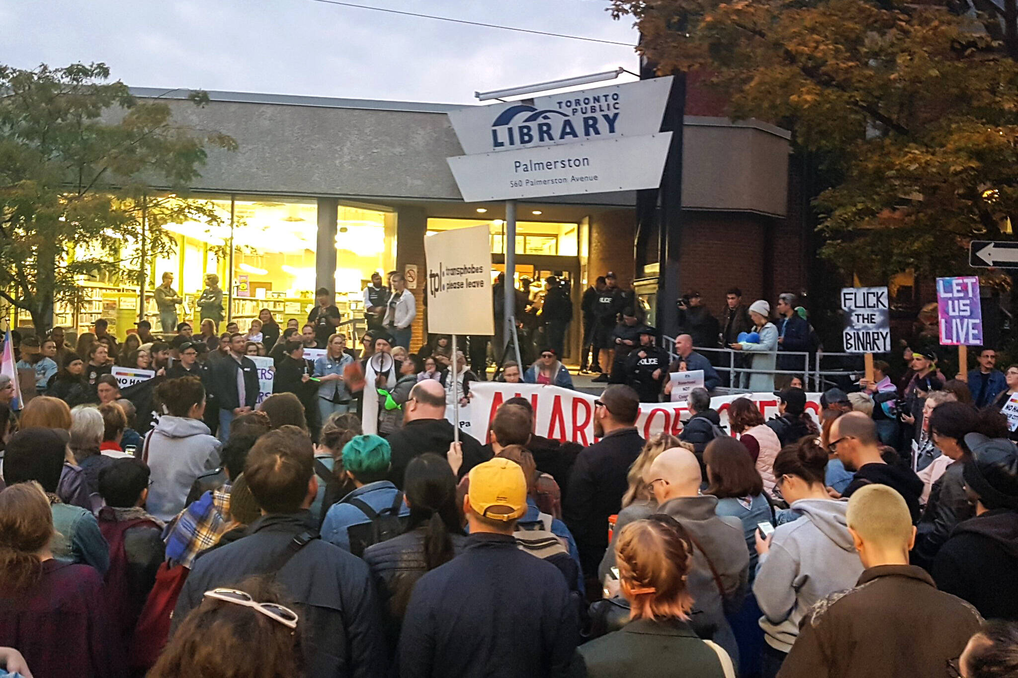 toronto library protest