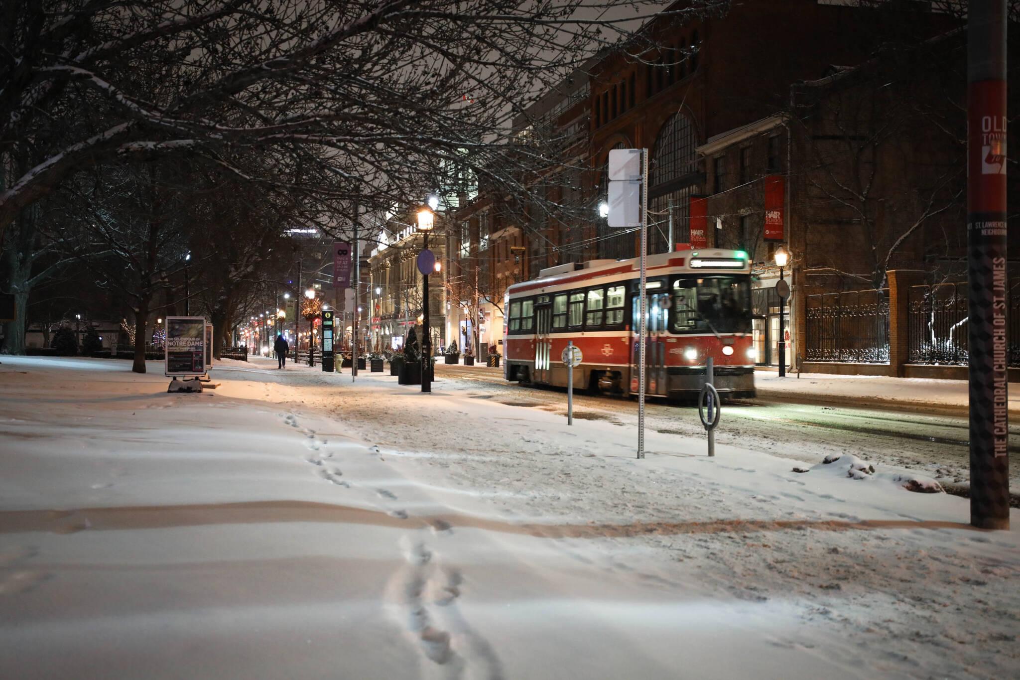 toronto streetcar cold