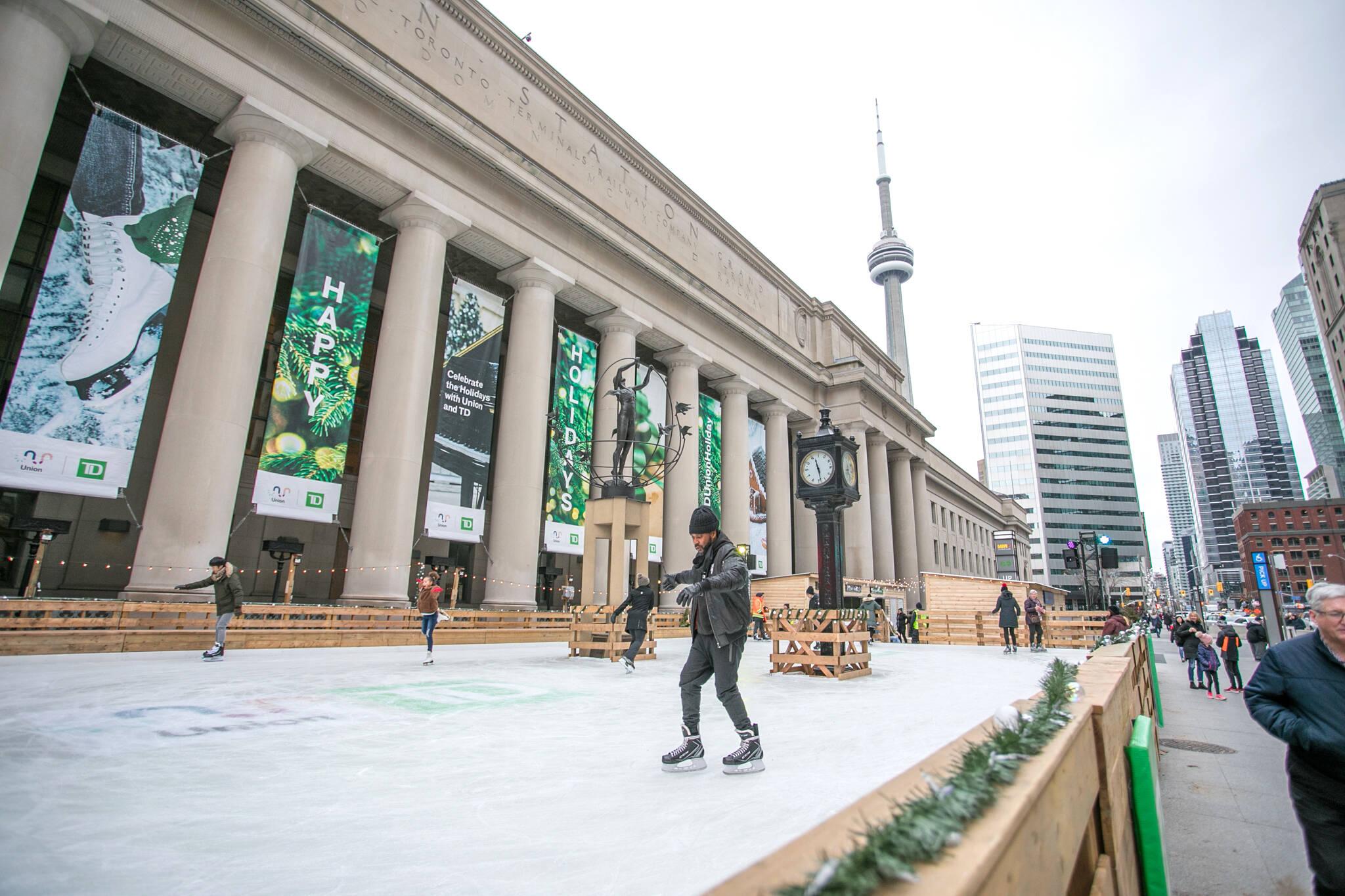union station skating rink