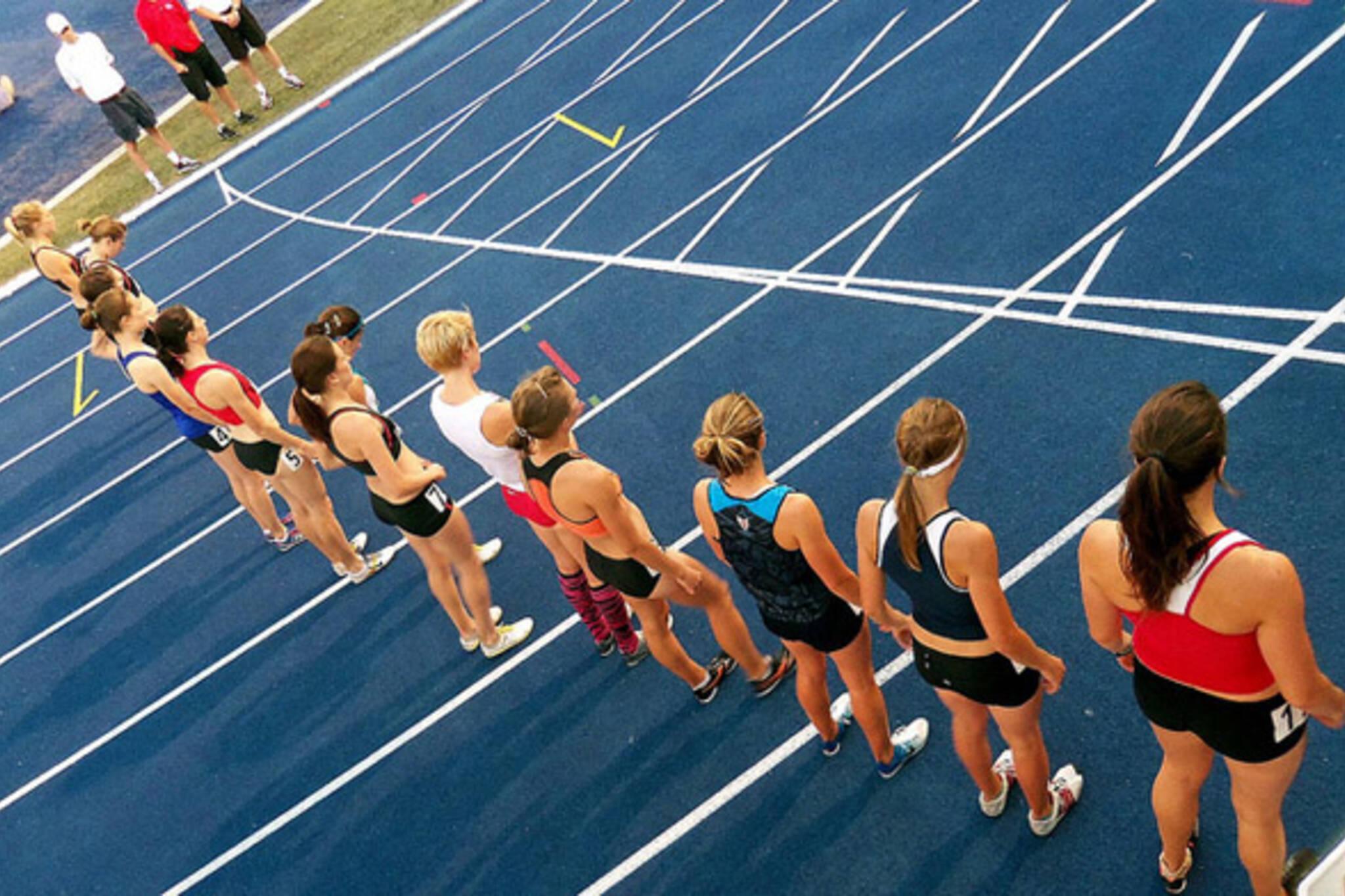runner, girls, race