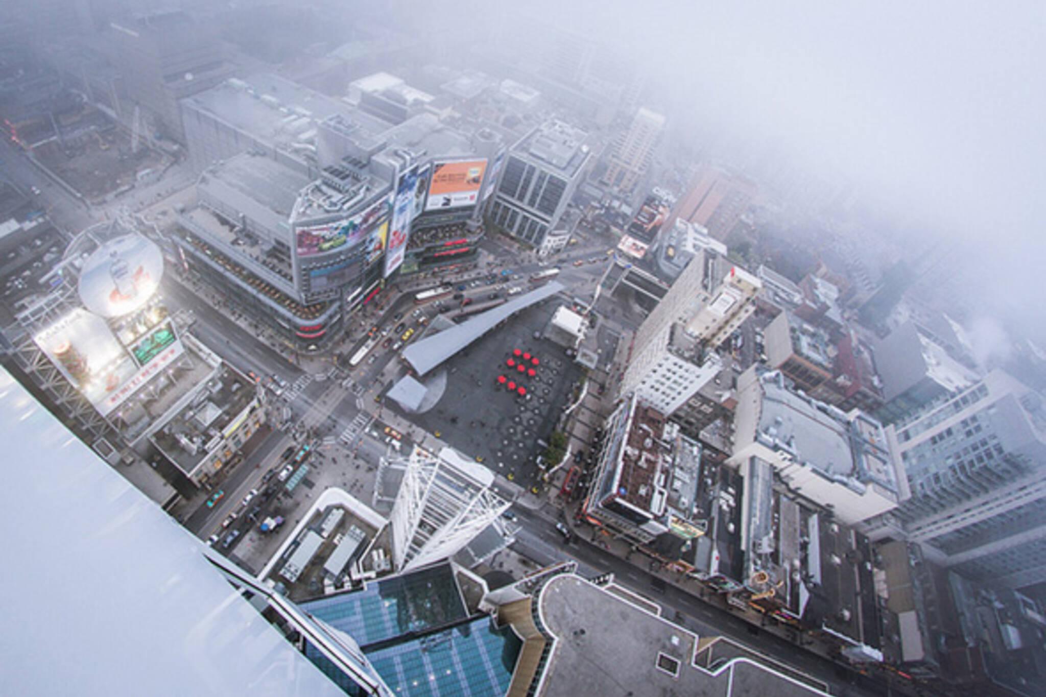 Toronto fog Yonge Dundas