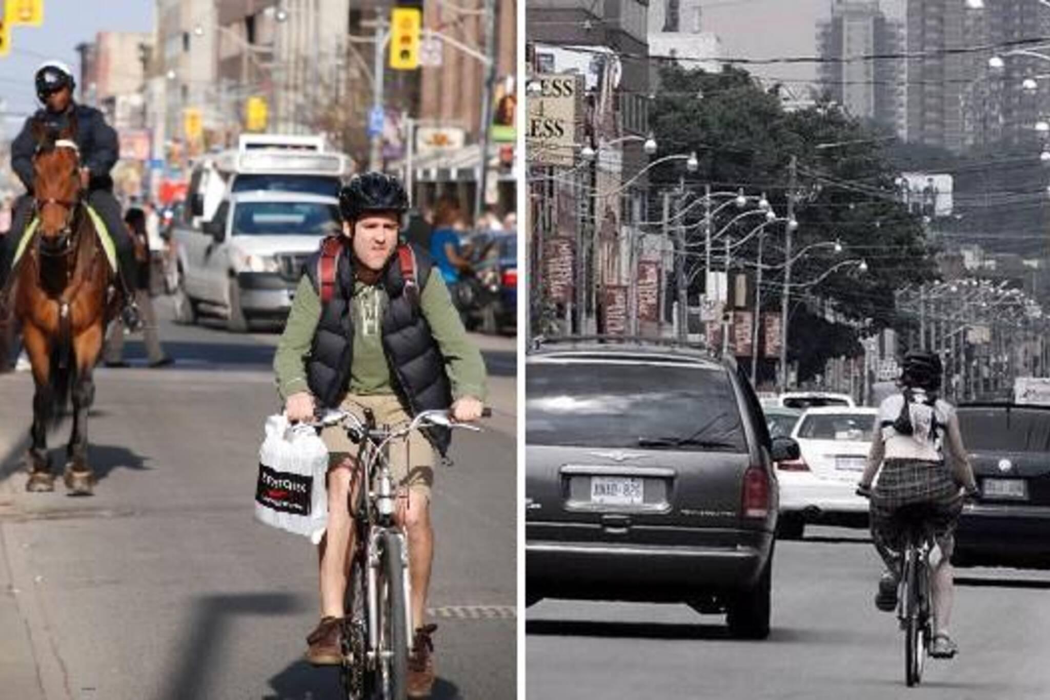 Biking in Toronto Traffic