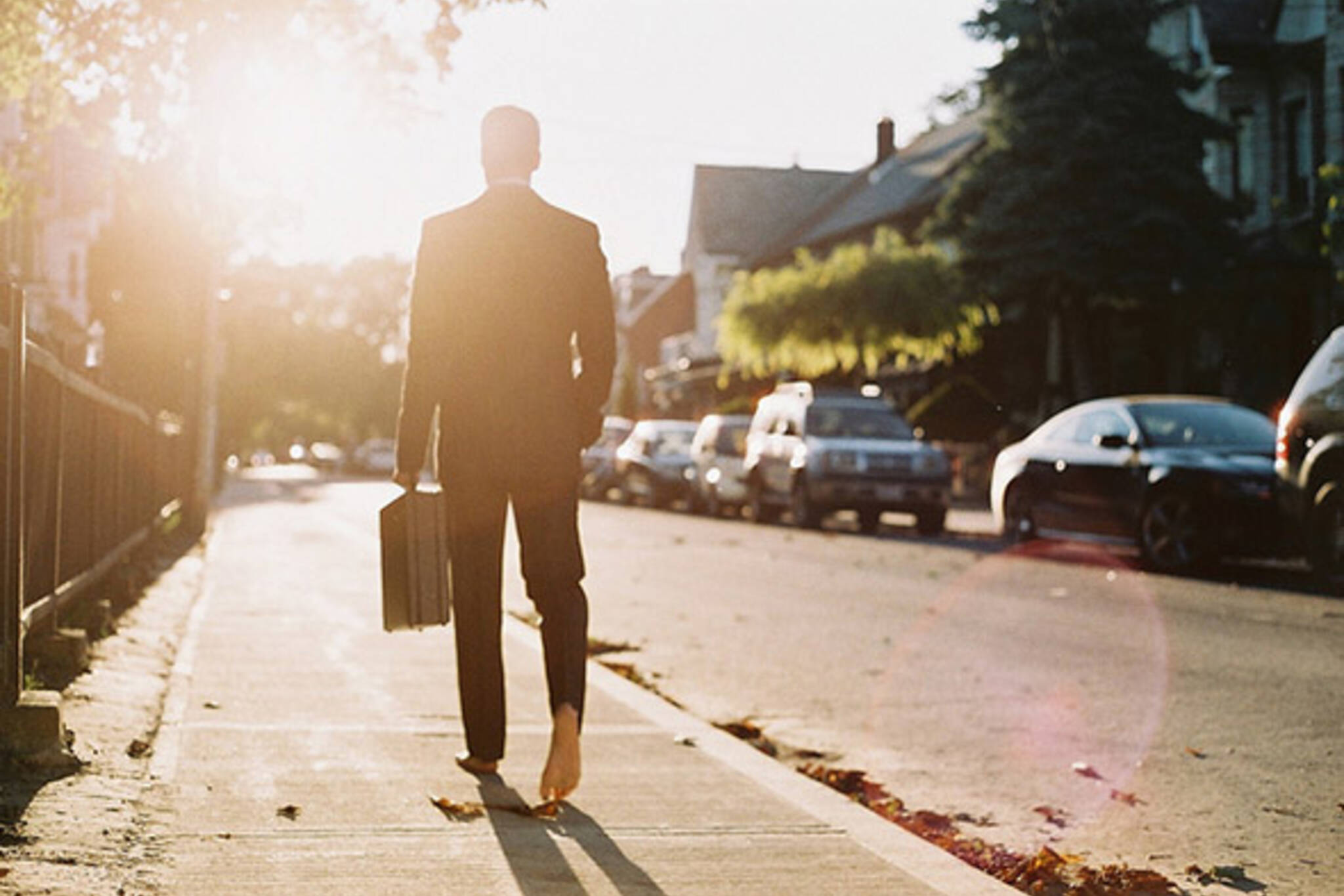 suit, sun, barefoot