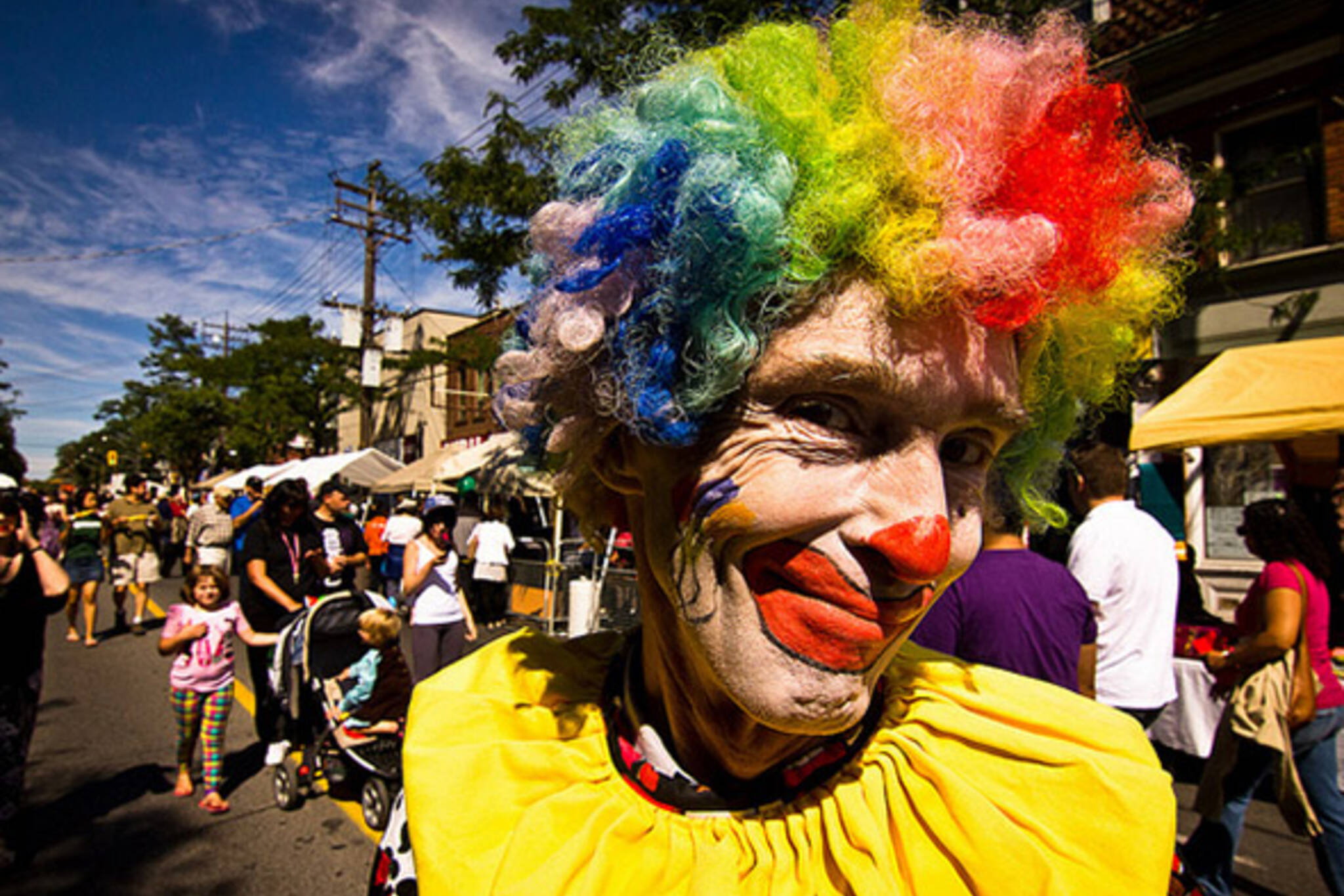 clown, kensington, sunday