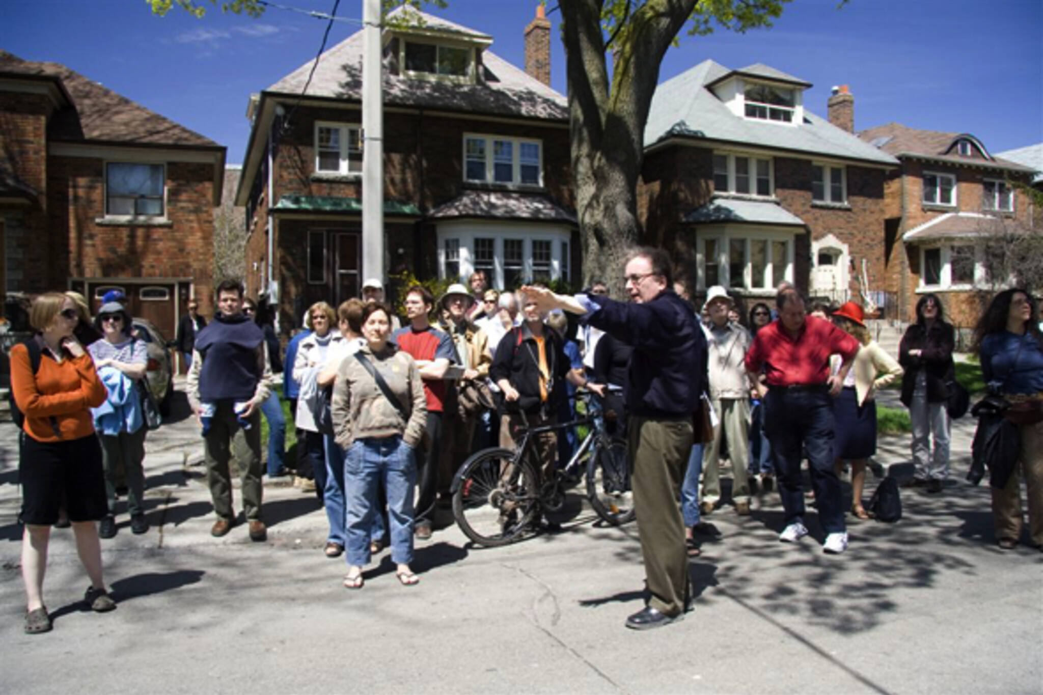 Alec Keefer at last year's Jane's Walk in Parkdale