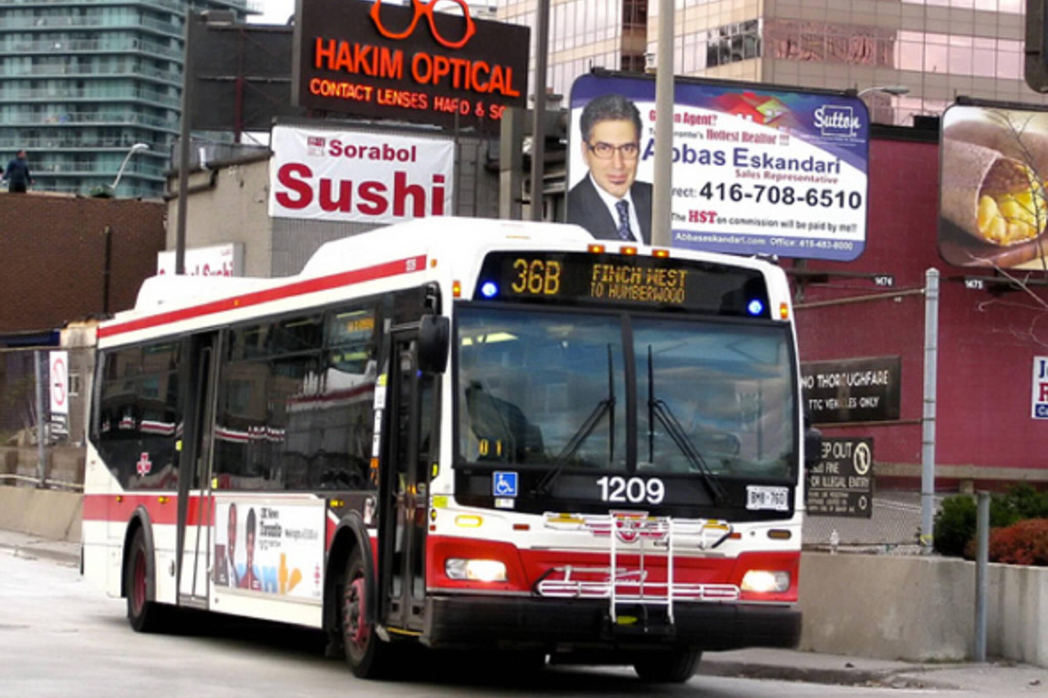 Finch Avenue West Bus Service