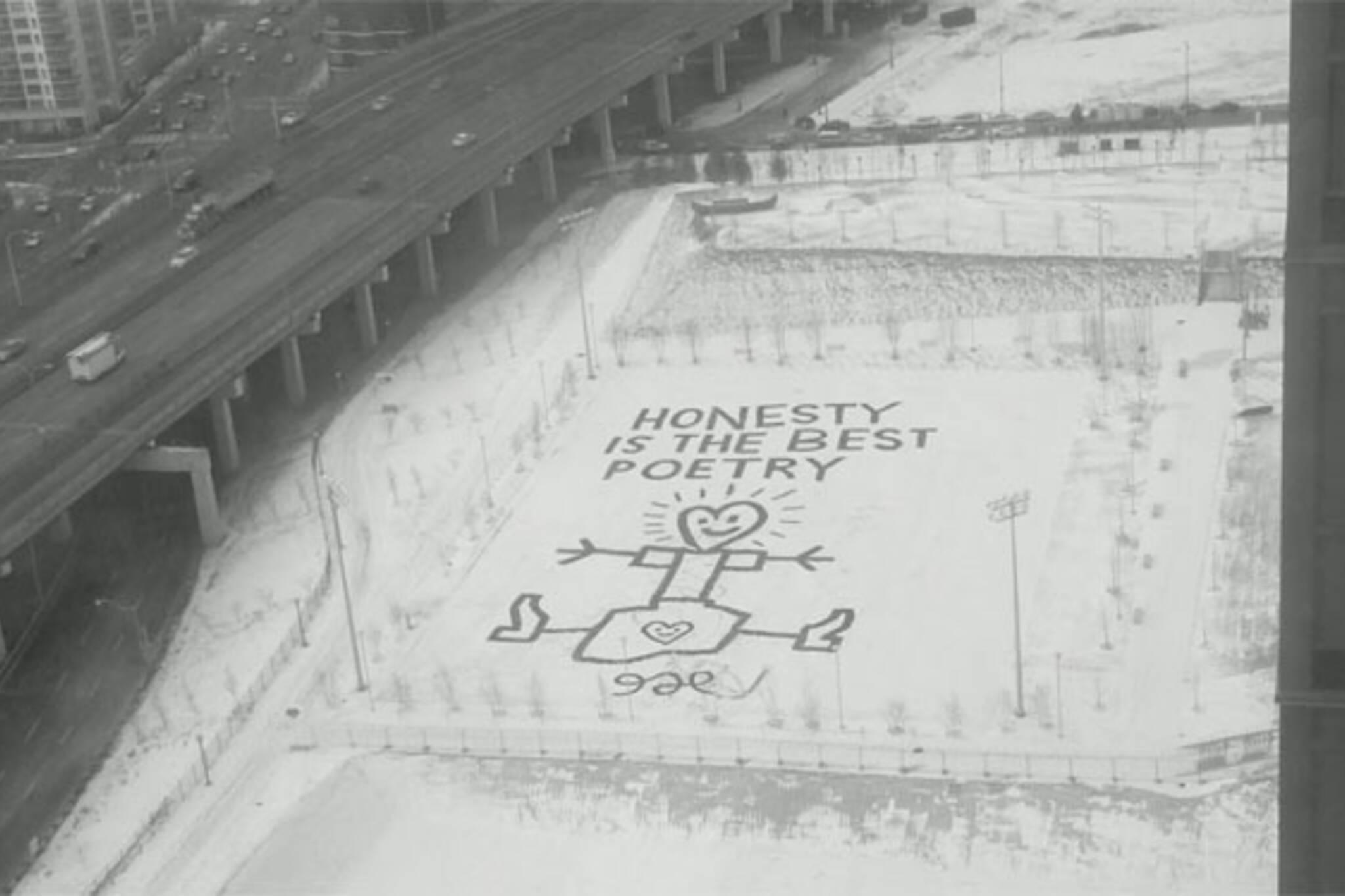 snow art toronto