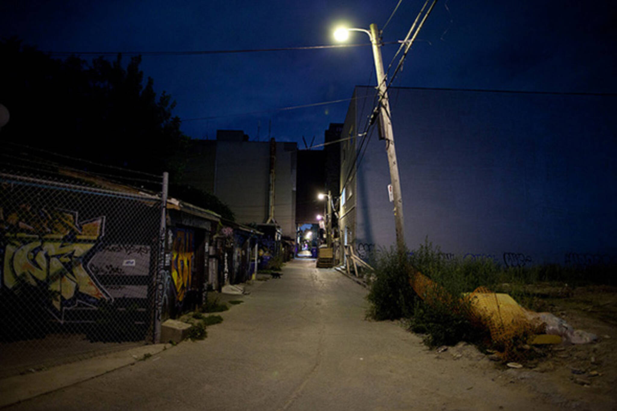 night, alley, dark