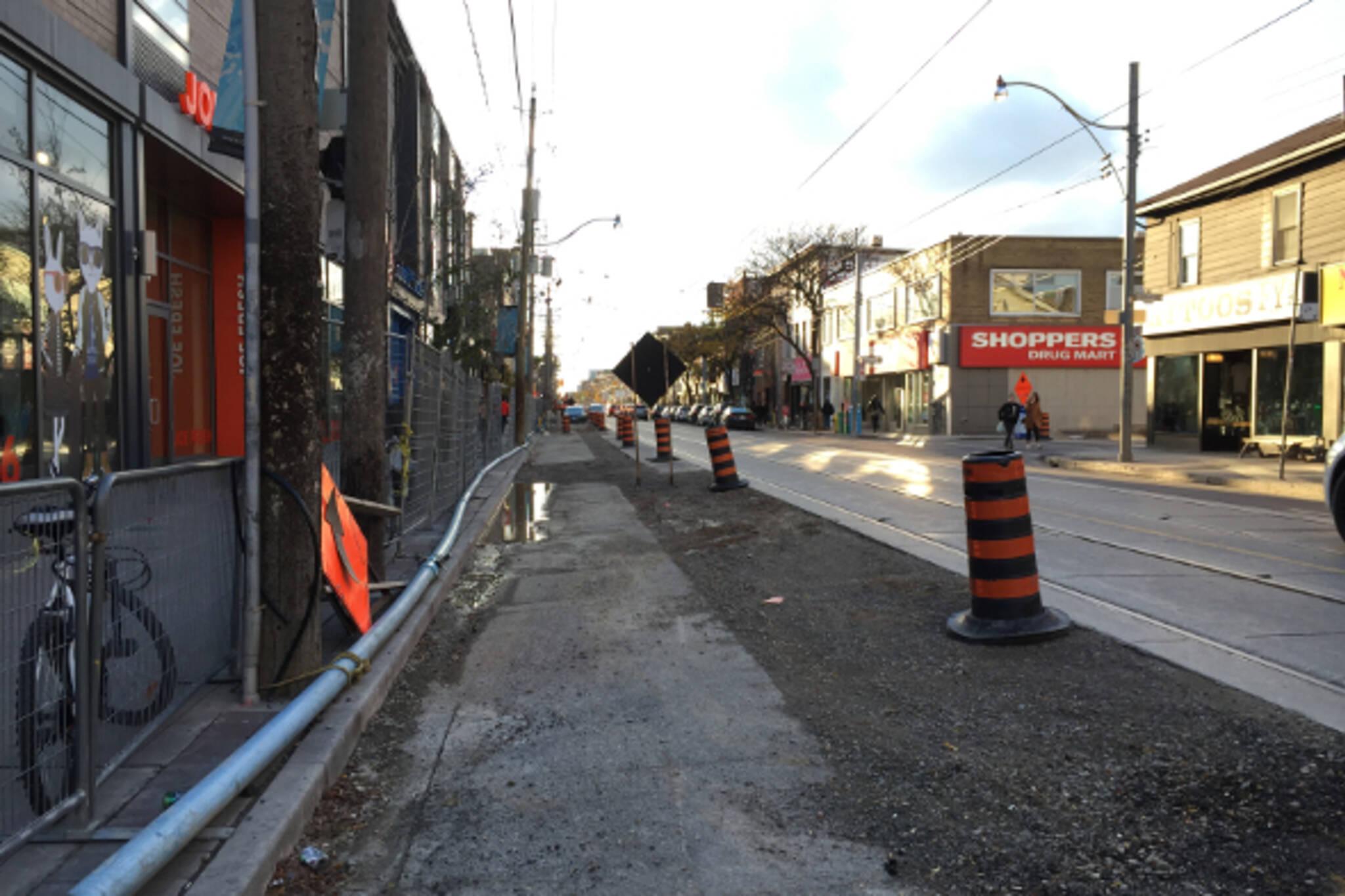 queen street construction toronto