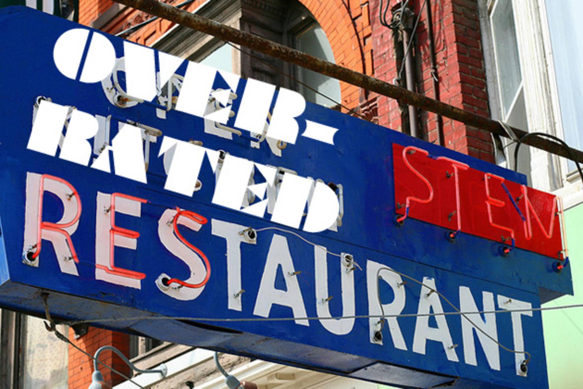 Overrated Restaurant Toronto