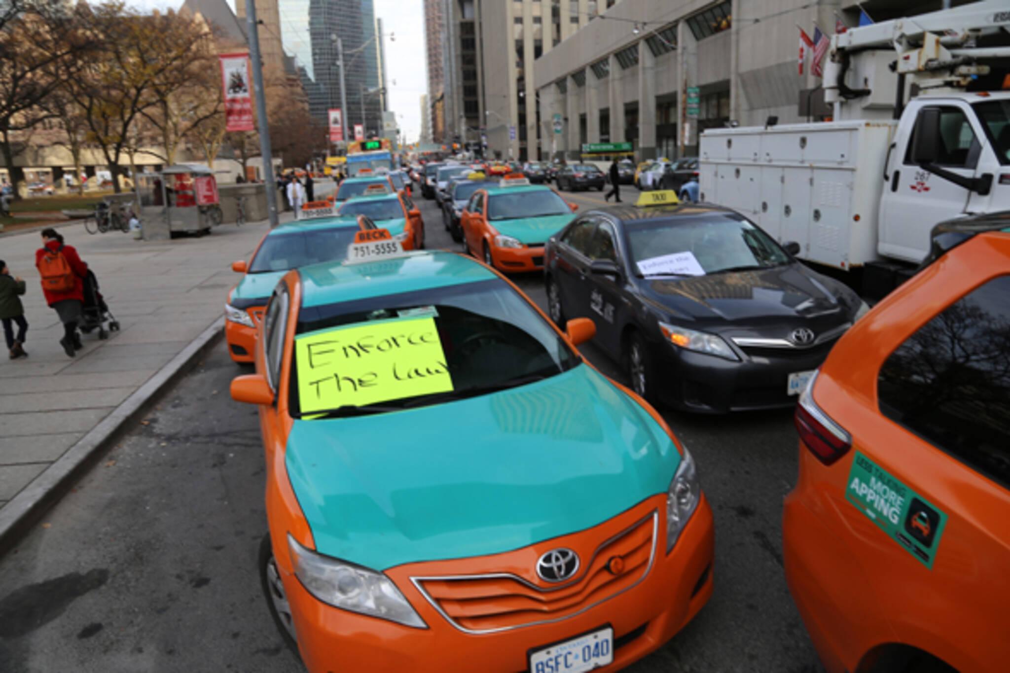 taxi protest toronto