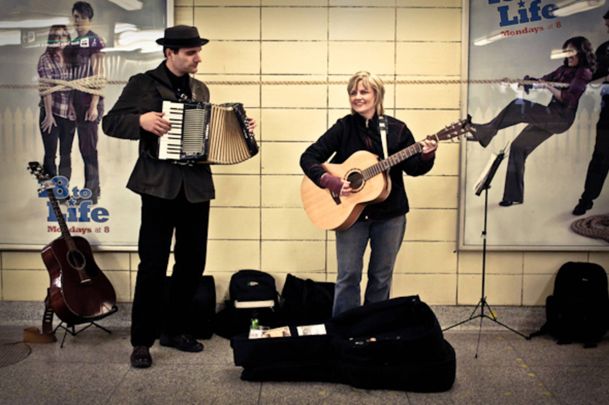 TTC buskers Sue and Dwight