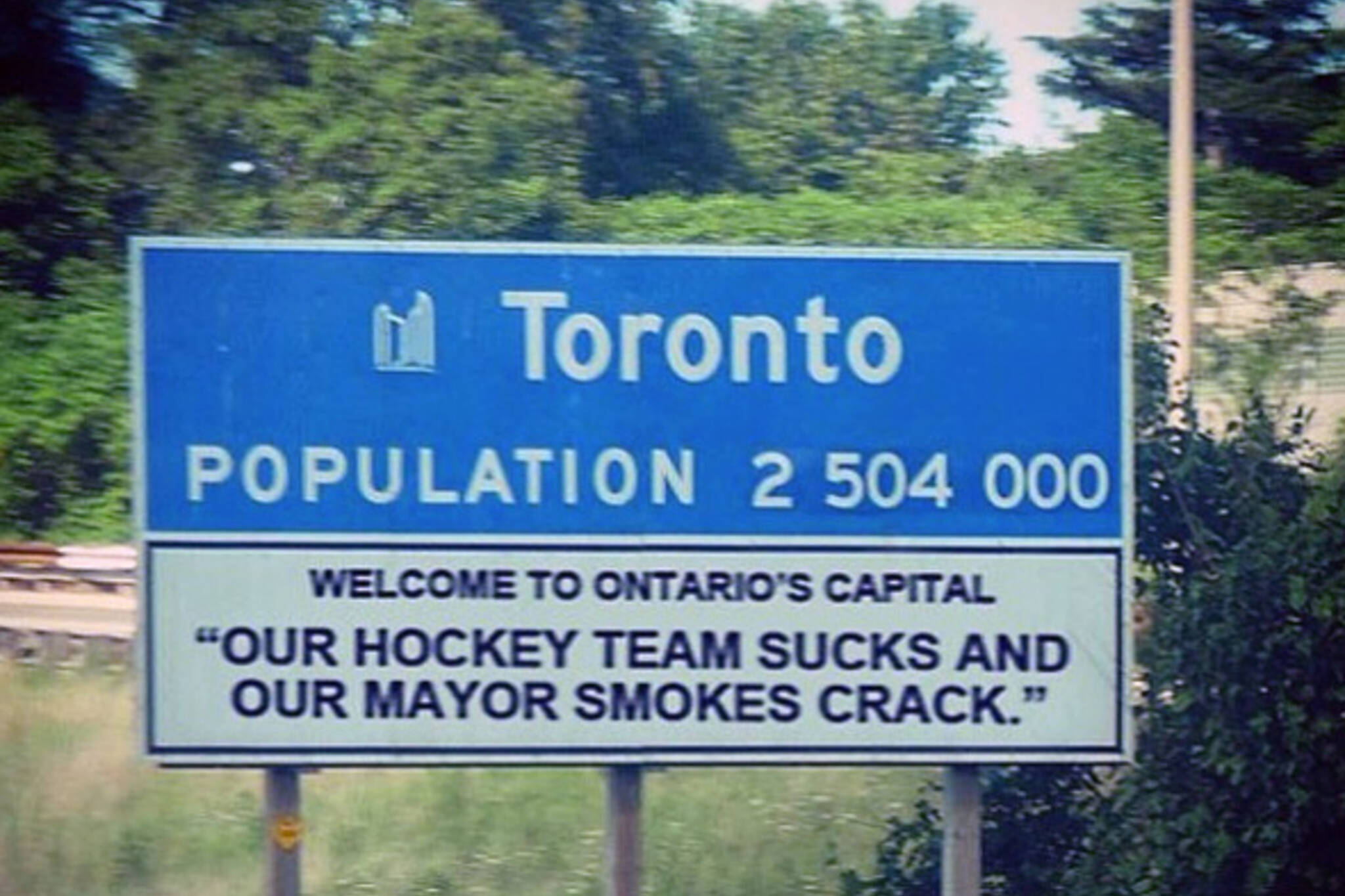 Toronto famous mayor crack