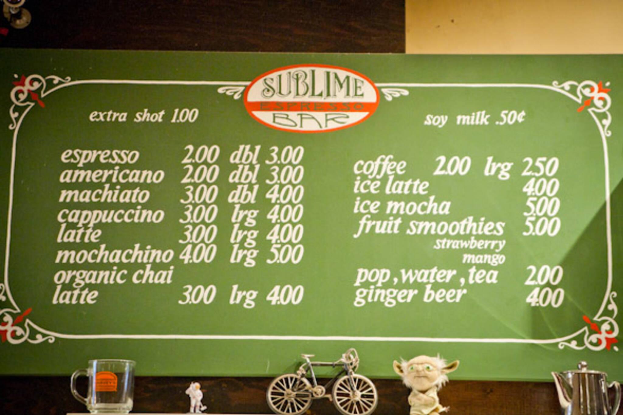 Sublime Cafe Toronto