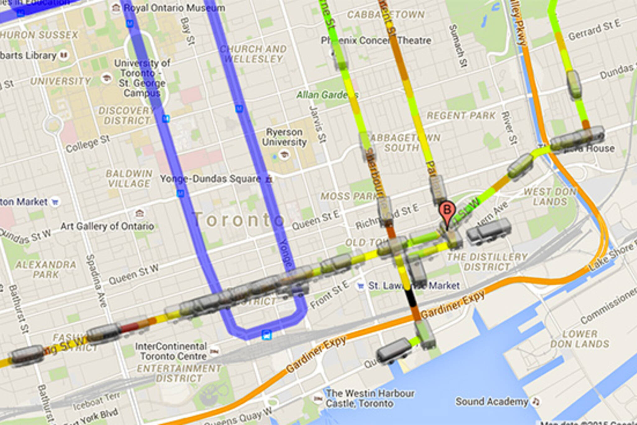 real time ttc map