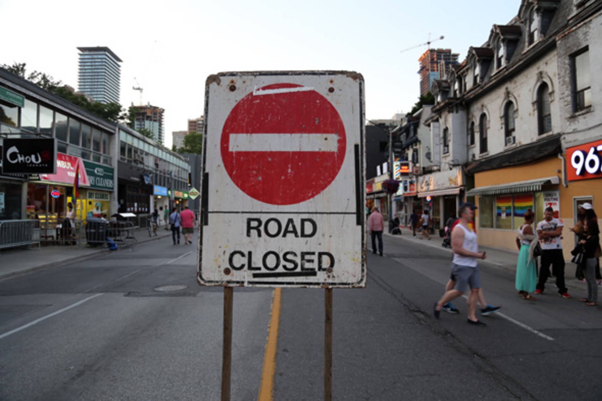 toronto road closed
