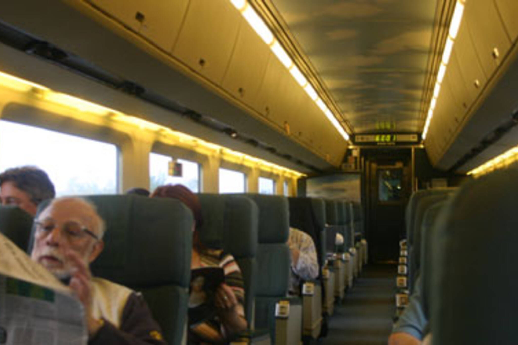 The train was comfy, but still a train