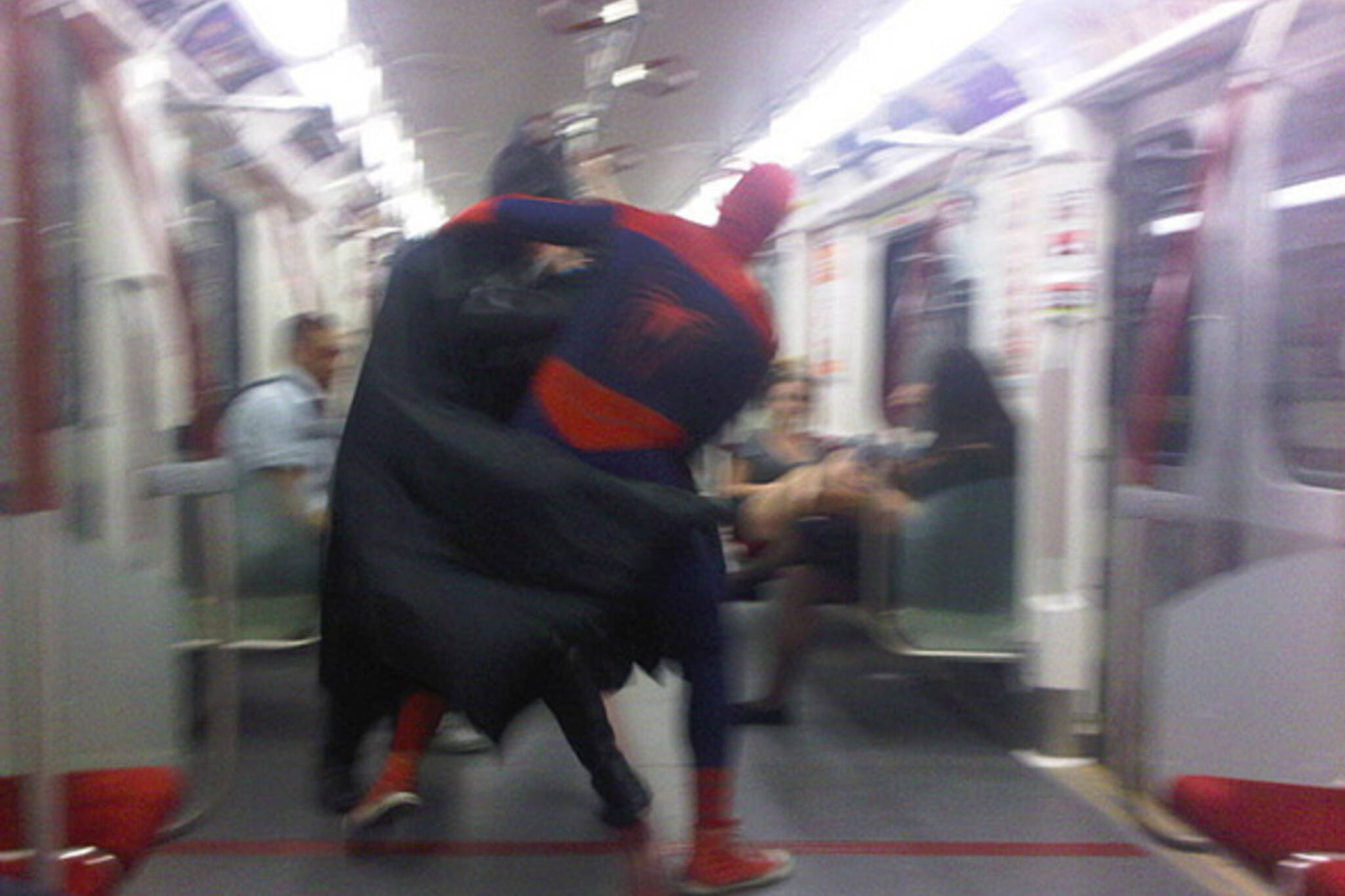 Fight on Subway