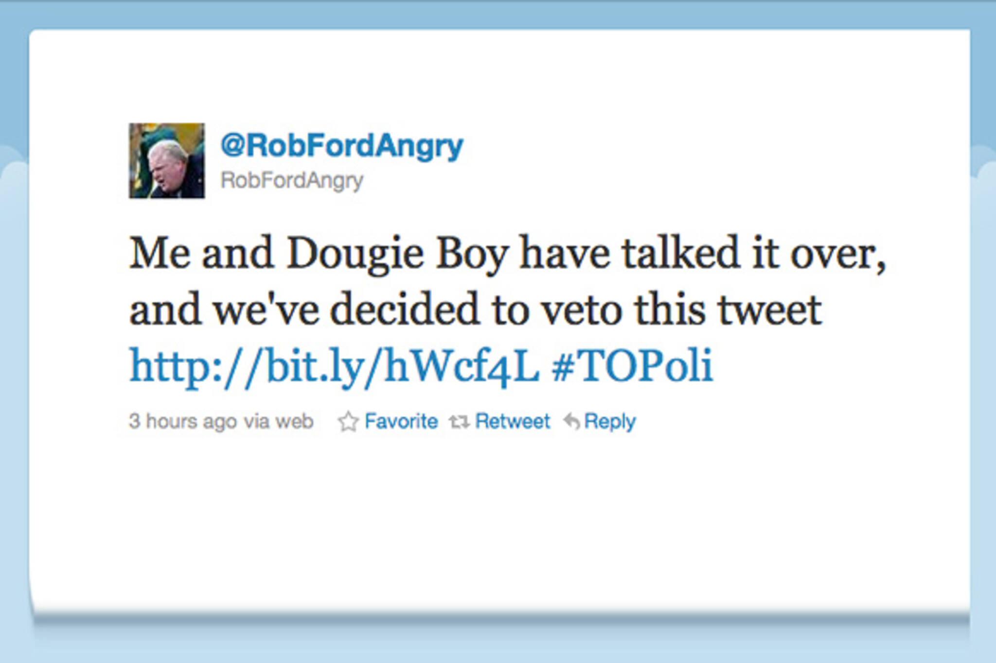 Doug Ford Mayor Veto