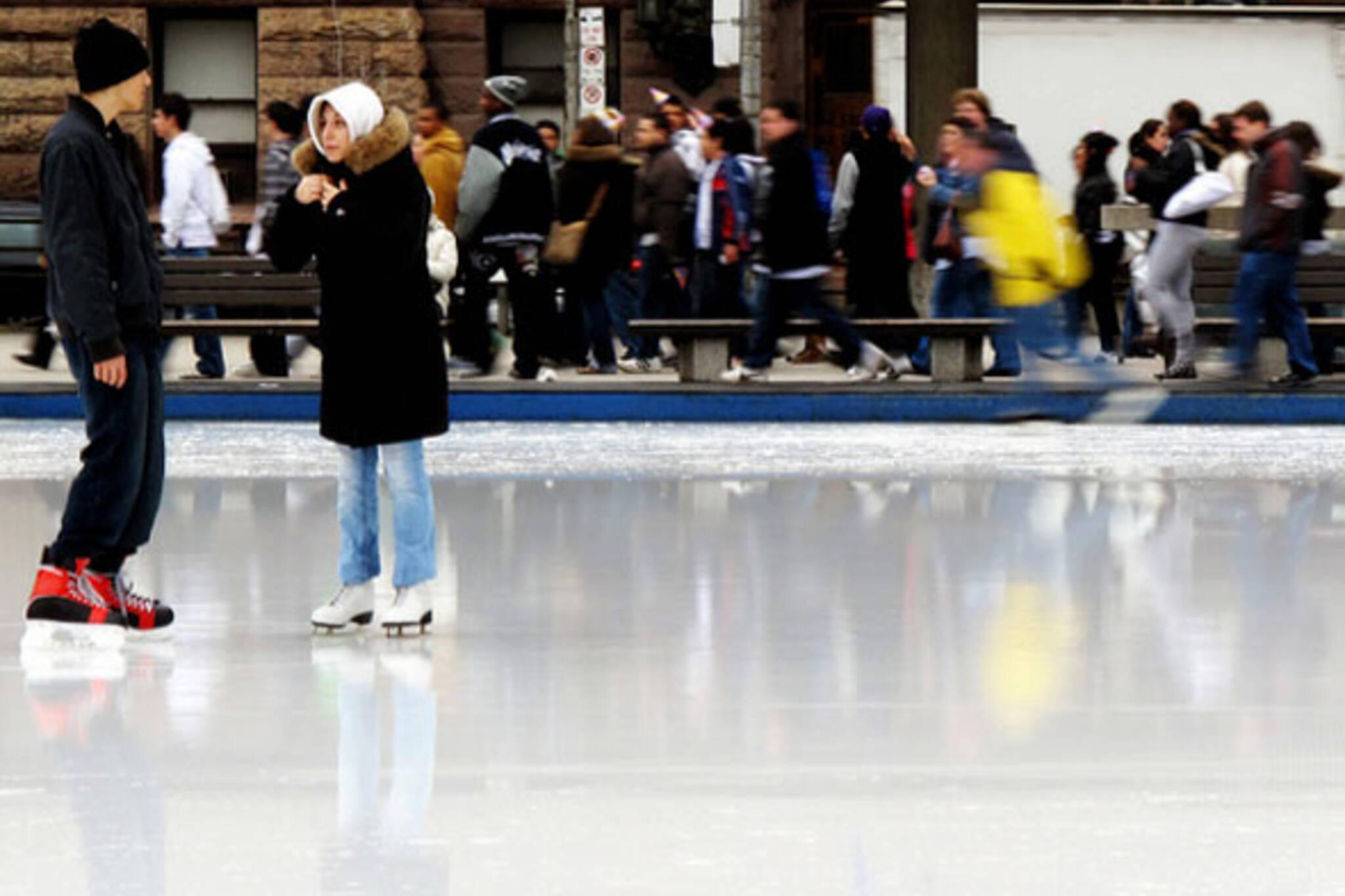 Skating Toronto City Hall