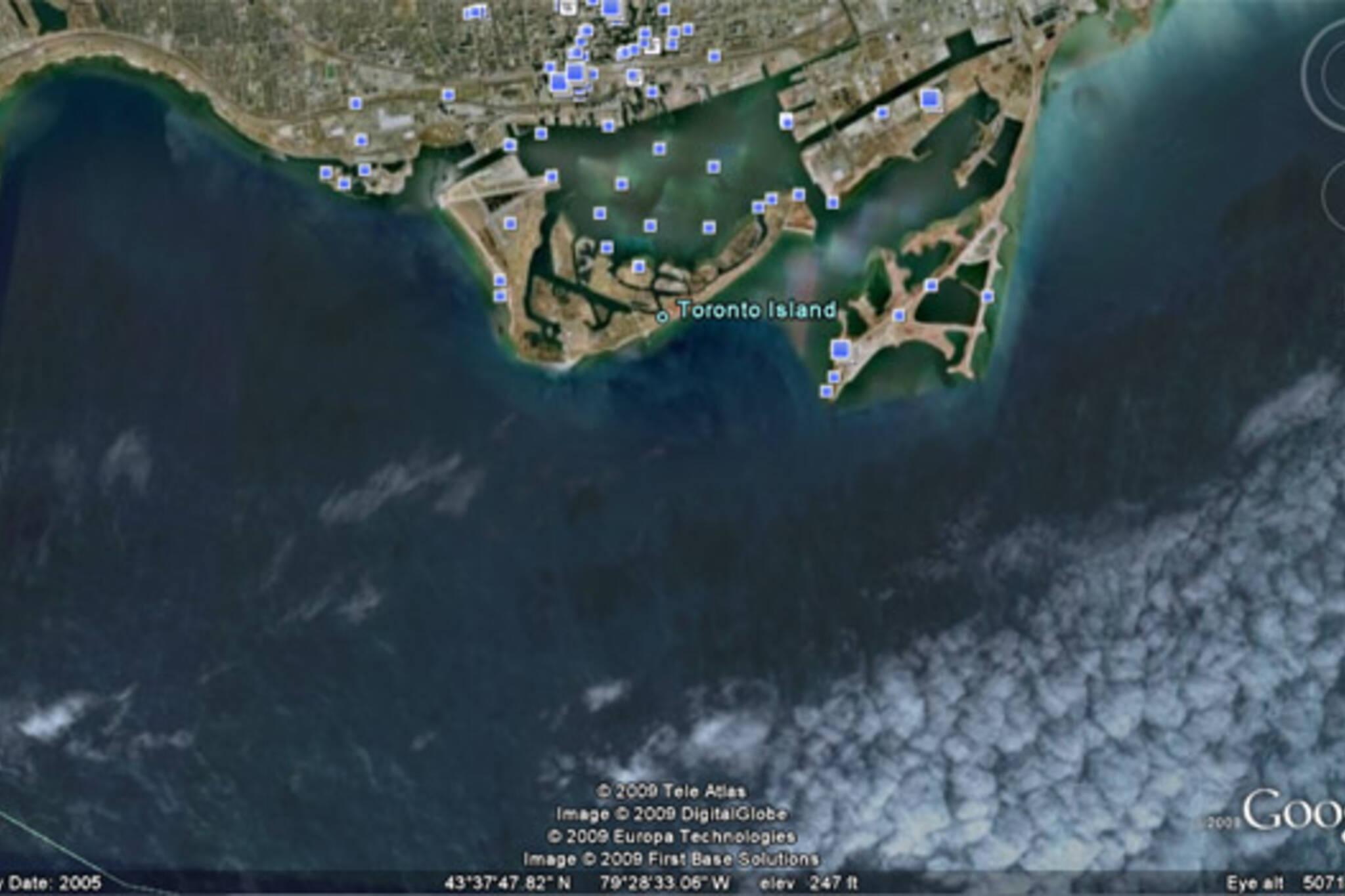 Toronto, as seen on Google Earth.